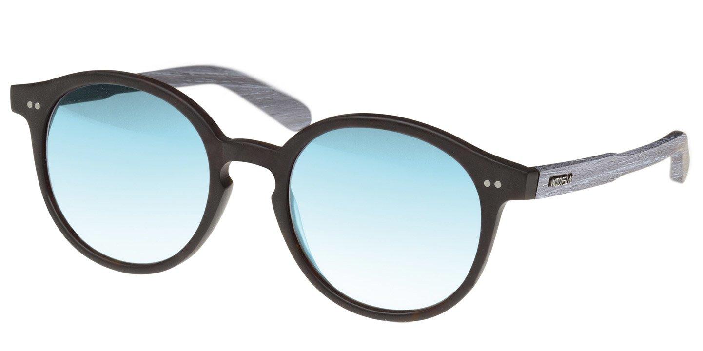 Solln Sunglasses (wood-acetate) (black/mirr. blue)