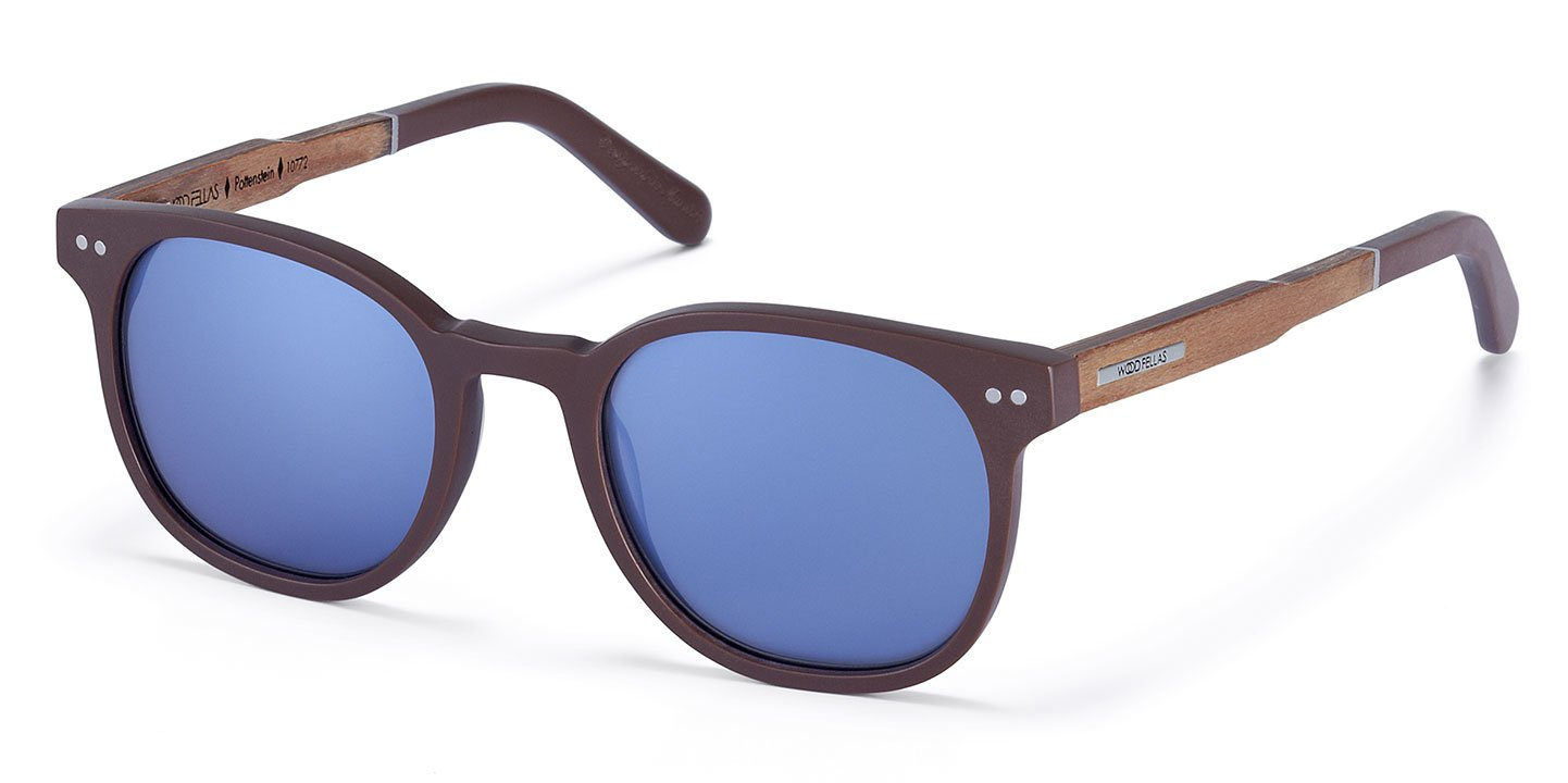 Pottenstein Sunglasses (wood-acetate) (brown/blue)