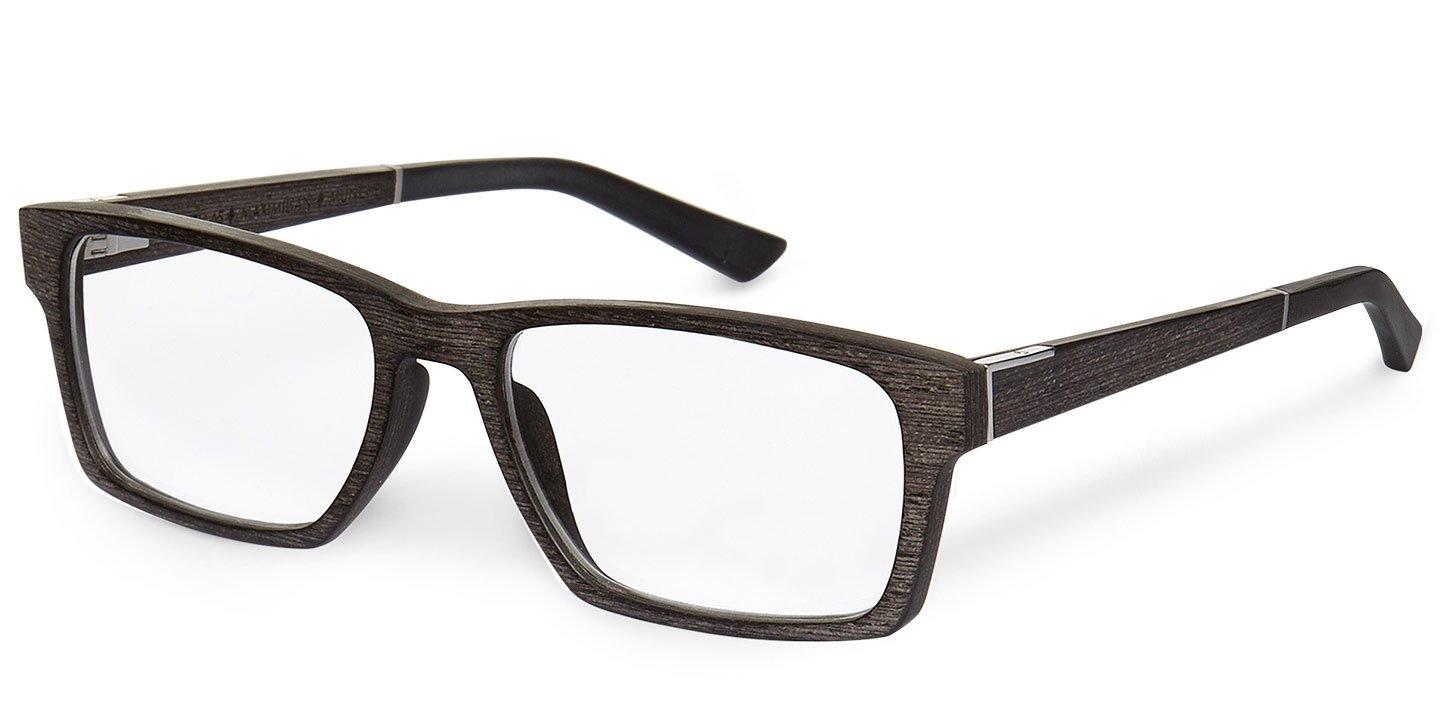 Maximilian Optical (55-18-145) (wood) (black oak)