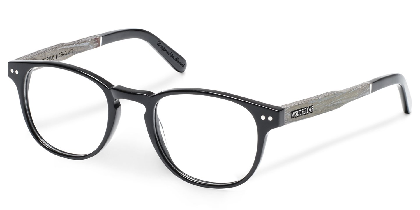 Sendling Optical Wood-Acetate (45-20-140) (black)