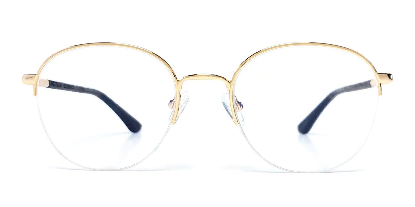 Halfrim Titanium Optical Cloudburst (52-20-145) (curled/gold shiny)